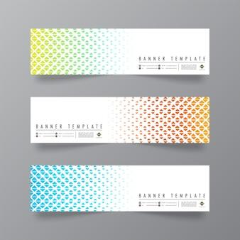 Design abstrato e minimalista de banners