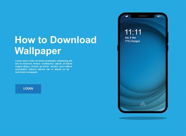 Design abstrato e moderno do papel de parede da tela do celular