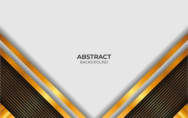 Design abstrato luxo branco e ouro