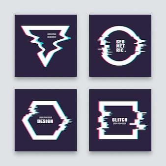Design abstrato minimalista moderno com formas geométricas com falha.