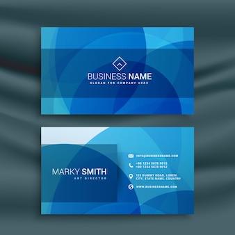 Design abstrato moderno cartão azul busienss