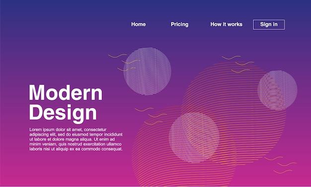 Design abstrato moderno da página de destino