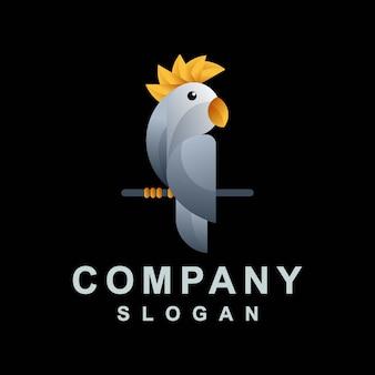 Design abstrato parrot logo