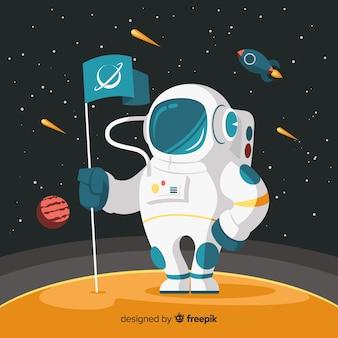 Design adorável astronauta