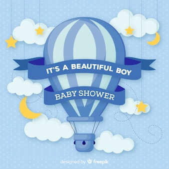 Design adorável chuveiro do bebê