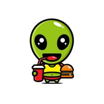 Design alienígena gordo bonito