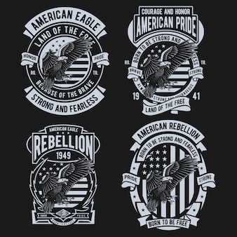 Design americano da águia