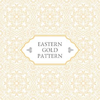 Design árabe de moldura de ouro oriental