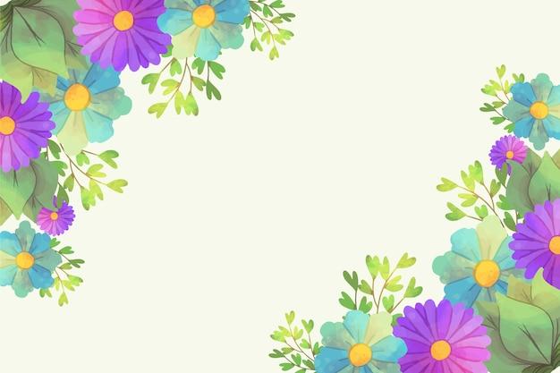 Design artístico floral fundo aquarela