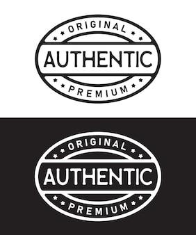 Design autêntico de logotipo vintage de selo
