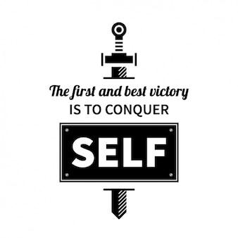 Design auto citações motivação