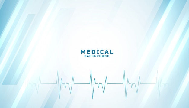 Design azul brilhante médico e de saúde