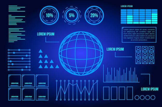 Design azul futurista para terra