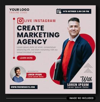 Design banner live instagram digital agência 2