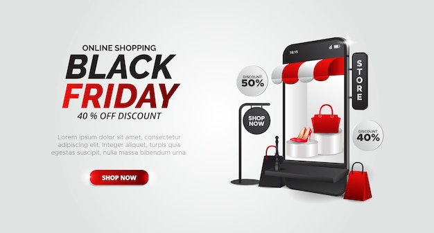 Design black friday para promoção de produtos