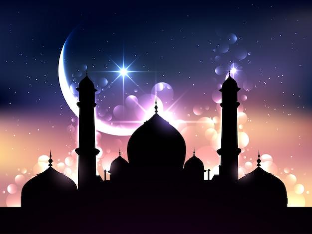 Design bonito da ilustração do vetor ramadão