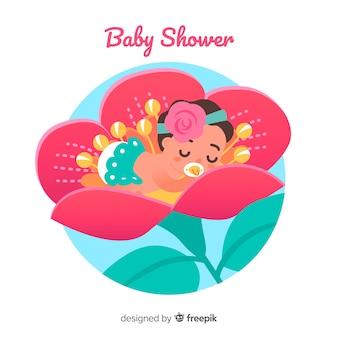 Design bonito do chuveiro de bebê