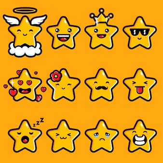 Design bonito emoji estrela