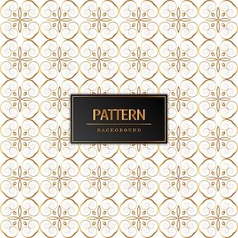 Design bonito padrão dourado