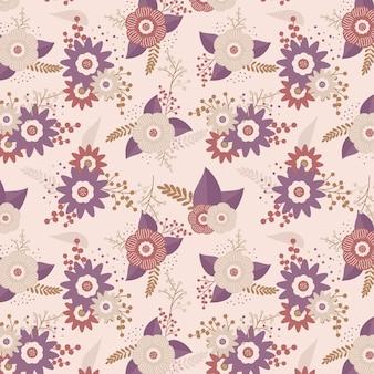 Design bonito padrão floral
