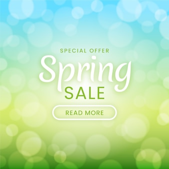 Design borrado para venda de primavera