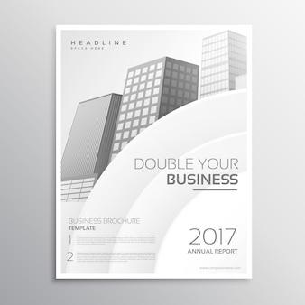 Design cinematográfico corporativo cinza e branco