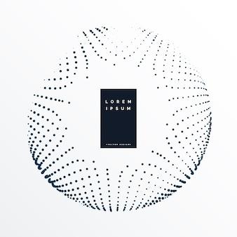 Design circular abstrato dos pontos