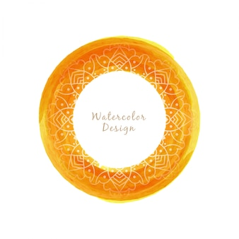 Design circular circular da aguarela com mandala