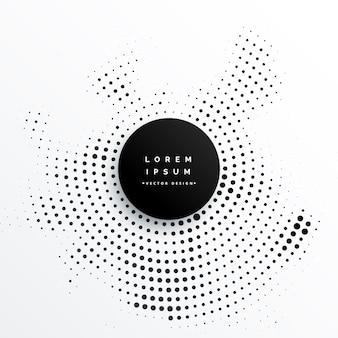 Design circular de fundo de pontos de meio-tom