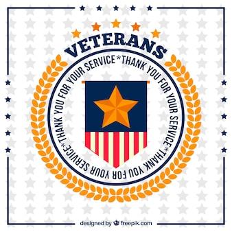 Design circular do dia dos veteranos