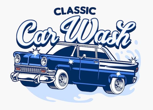 Design clássico para lavagem de carros