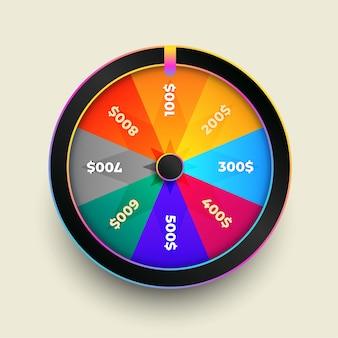 Design colorido da roda da sorte e da sorte