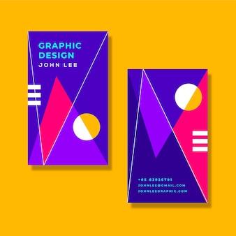 Design colorido do cartão de informações da empresa