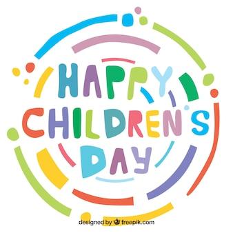 Design colorido do dia das crianças