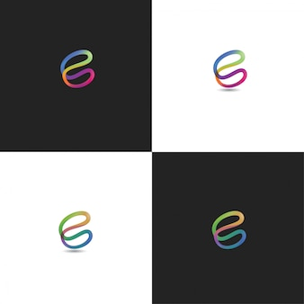 Design colorido do logotipo abstrato c
