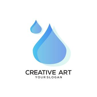 Design colorido gradiente do logotipo da água
