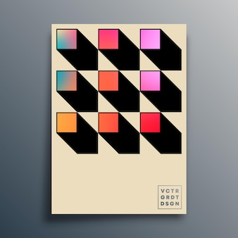 Design colorido gradiente para papel de parede, cartaz, folheto, capa de brochura, tipografia ou outros produtos de impressão. ilustração vetorial