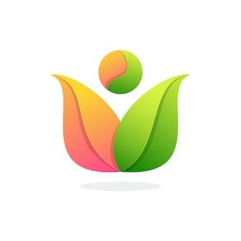 Design colorido impressionante da flor para o logotipo