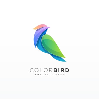 Design colorido pássaro