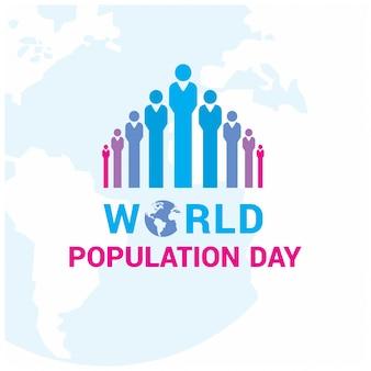 Design com figuras coloridas para o dia da população mundial