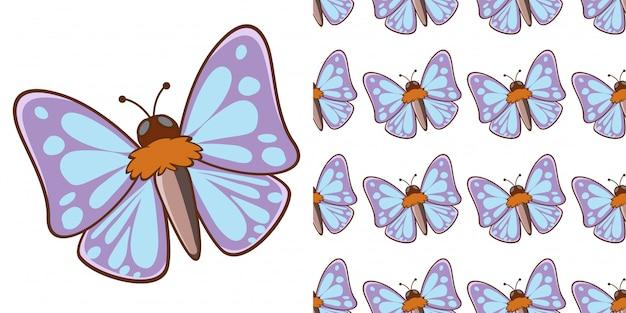 Design com padrão sem emenda linda mariposa