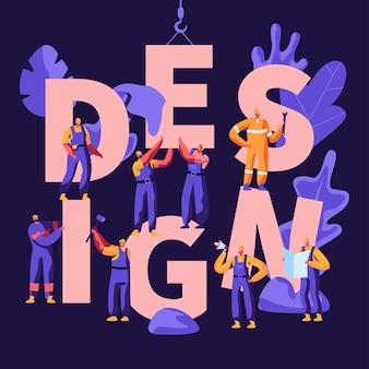 Design concept cartoon ilustração plana