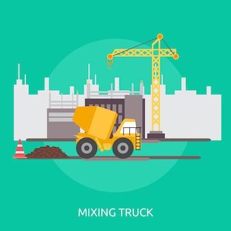 Design conceptual de caminhão de mistura