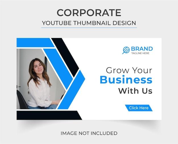 Design corporativo criativo de miniatura do you tube