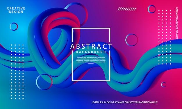 Design criativo 3d fluxo forma de fundo com cores degradê na moda