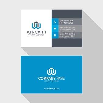 Design criativo abstrato do modelo do cartão de visita