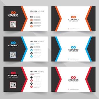 Design criativo cartão de visita