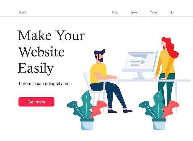 Design criativo da página de destino