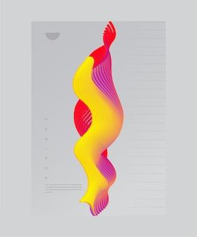 Design criativo de capa com elemento conceitual