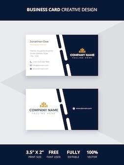 Design criativo de cartão de visita